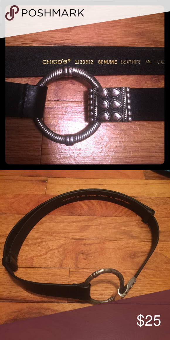 d085c9d3b Spotted while shopping on Poshmark: Great black leather belt! #poshmark  #fashion #shopping #style #Chico's #Accessories