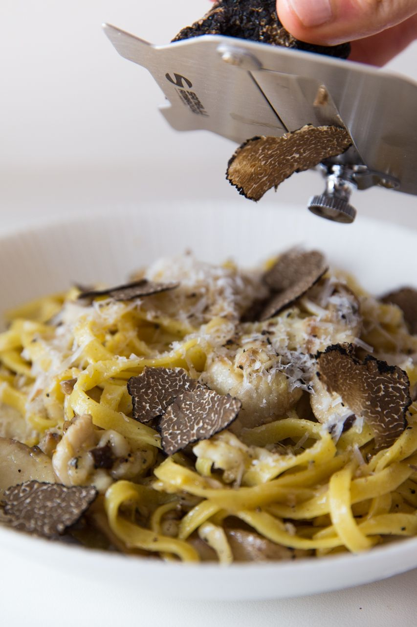 Shaved black truffle