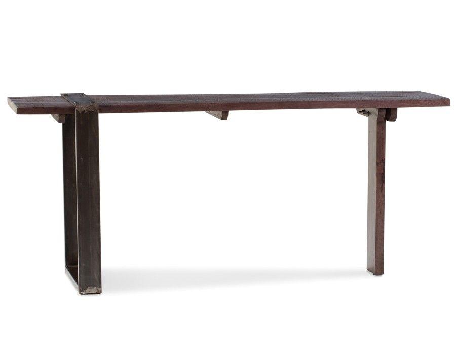 Georgia bureau en fer et en bois de manguier massif cm brun