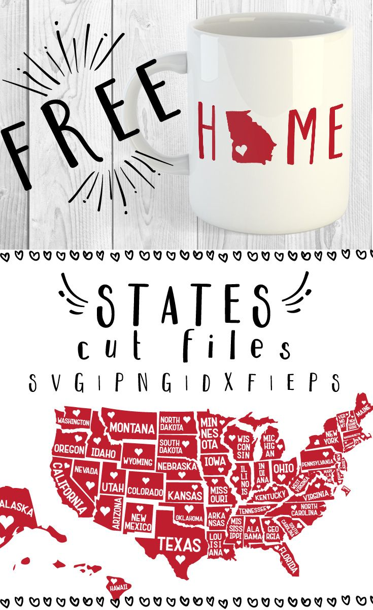 Download FREE 51 States SVG, PNG, DXF & EPS by | Cricut crafts, Cricut