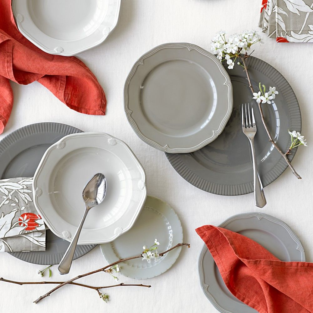 Eclectique Dinnerware Place Setting, Grey | Williams-Sonoma