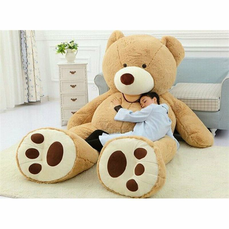 "Photo of Giant big brown 78"" Teddy bear cover no cottom stuffed anim…"