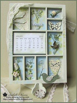calendar & curio shelf