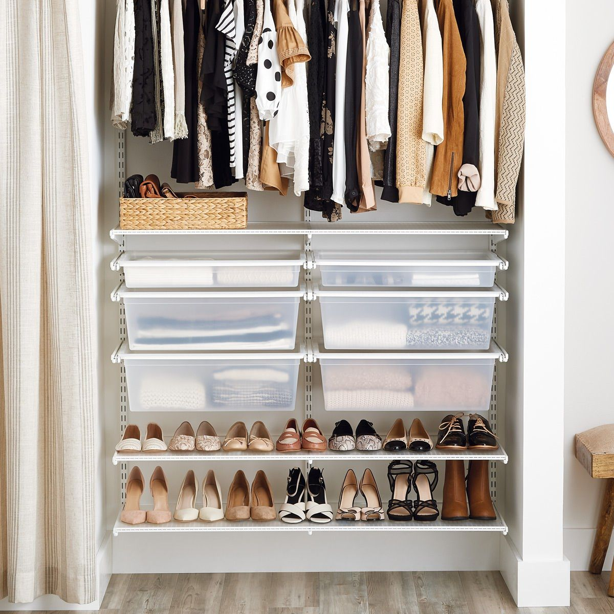Get Inspired To Give Your Small Closet A Makeover Basic Shelving