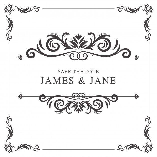 Download Vintage Wedding Frame For Free Wedding Frames Vintage Wedding Invitations Templates Vector Free