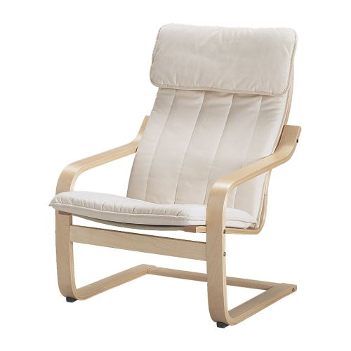 IKEA   POÄNG, Chair Cushion, Ransta Natural, , The Cover Is Easy To Keep  Clean As It Is Removable And Can Be Machine Washed.