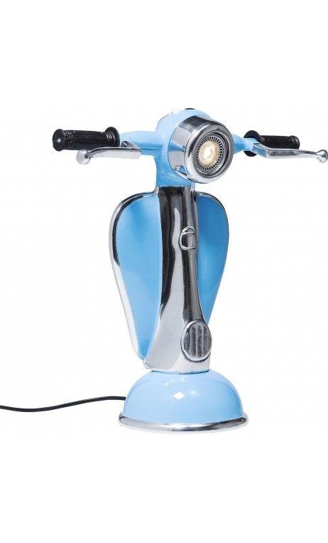 Lampe Poser Scooter Led Bleu A Kare Design Vespa Ciel KclF1J