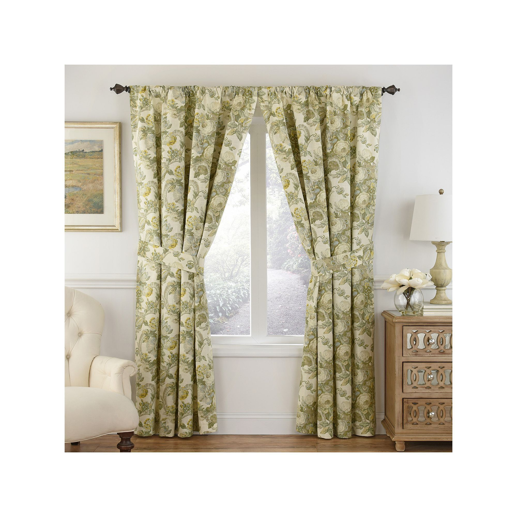 Waverly 1 Panel Spring Bling Window Curtain Curtains Window Curtains Panel Curtains