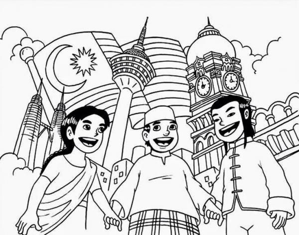 Collection Of Colouring Poster For Bulan Kemerdekaan Flag Coloring Pages Coloring Pages For Kids Coloring Pages