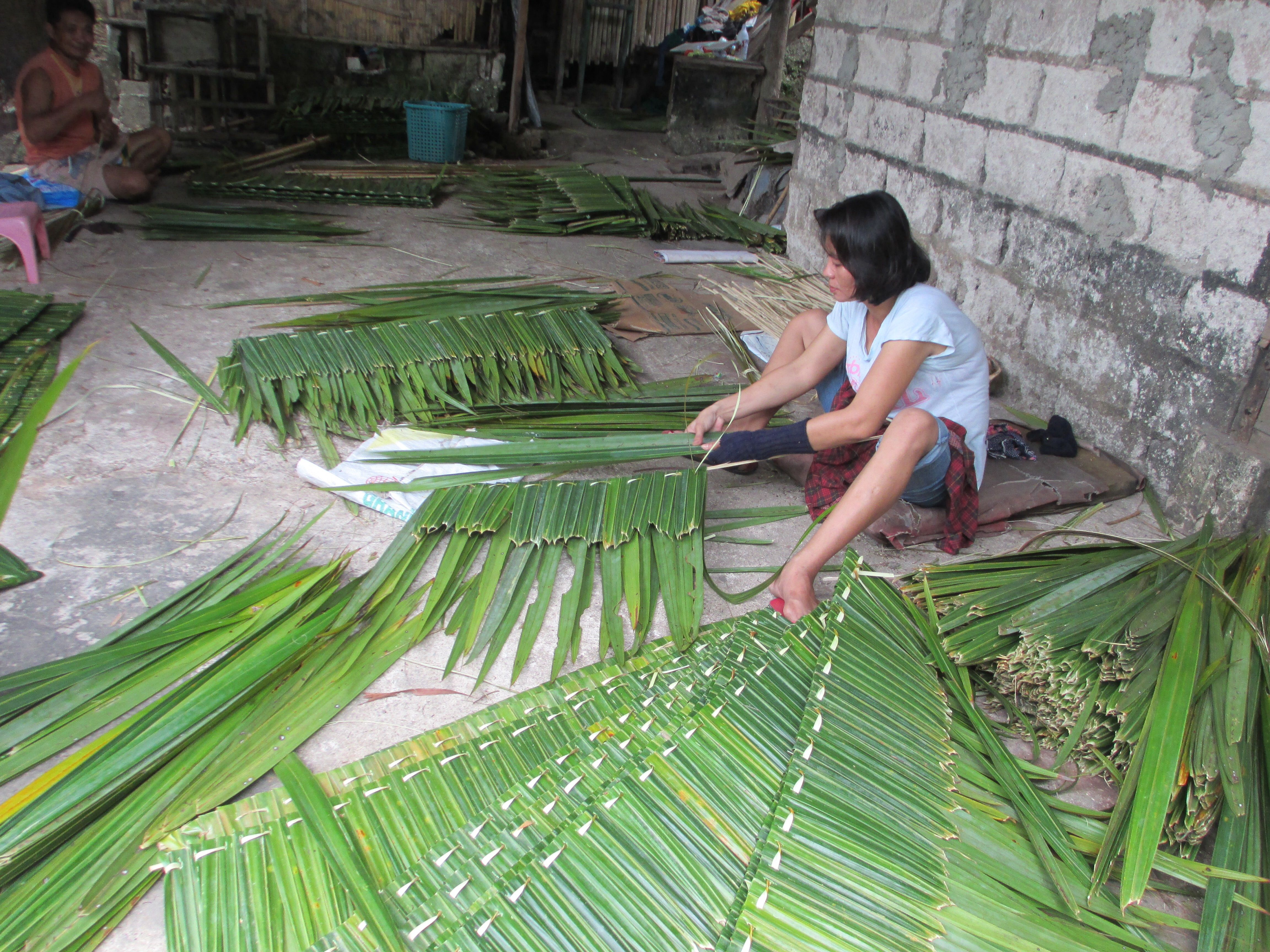 Nipa Palm Leaf Roof Cladding Roof Cladding Roof Construction Palm Fronds