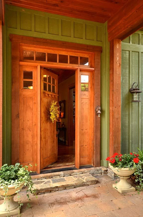 Craftsman Style Door With Surround And Transom Arts And