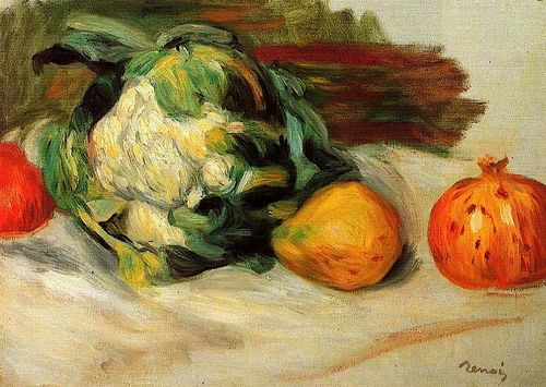 Pierre Auguste Renoir - Cauliflower and Pomegranates Tumblr