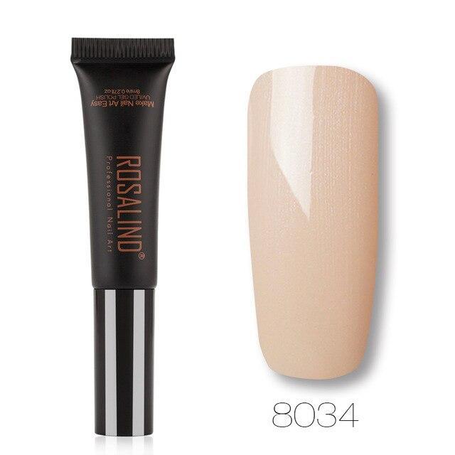 ROSALIND Gel 1S Dawdler Nagellack New Design 8ML 8031-8060 Einfarbig Semi Permanent Tränken Sie Nail Art Gel Lack   – Products