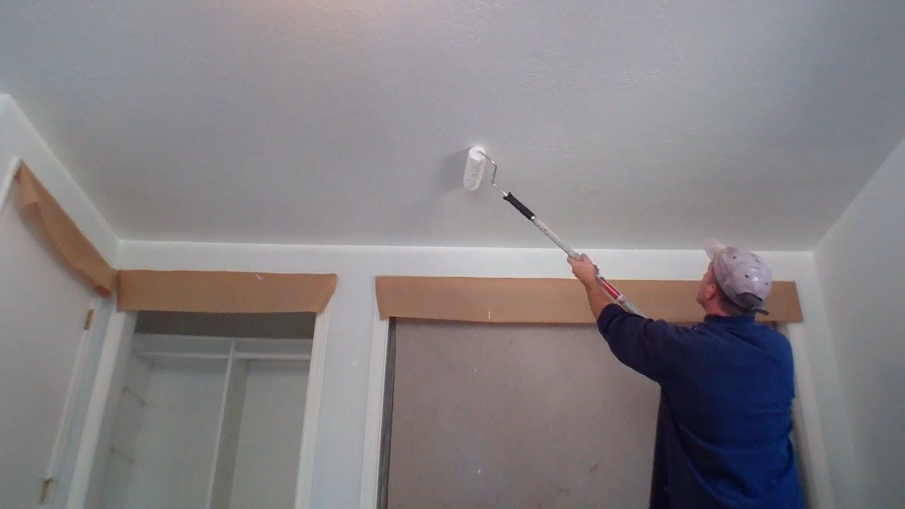 Interior Painting Step 2 Painting the Ceiling DIY