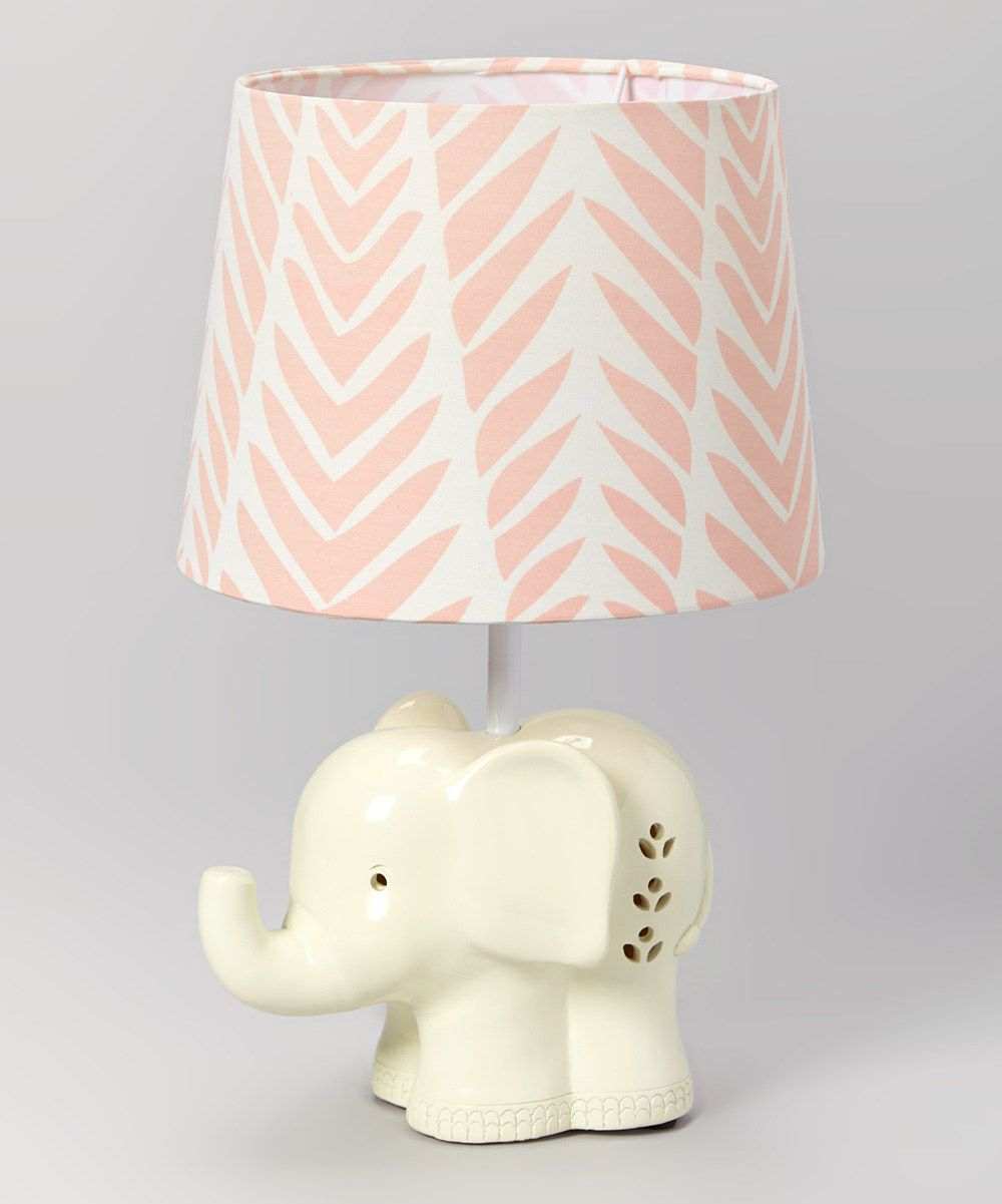 Look At This Lolli Living Surina Elephant Lamp Base U0026 Pink Palm Shade On  #zulily