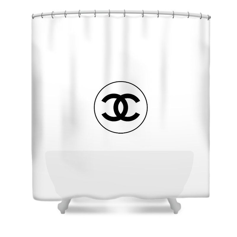 Coco Chanel Design Art Shower Curtain Shower Curtain Curtains