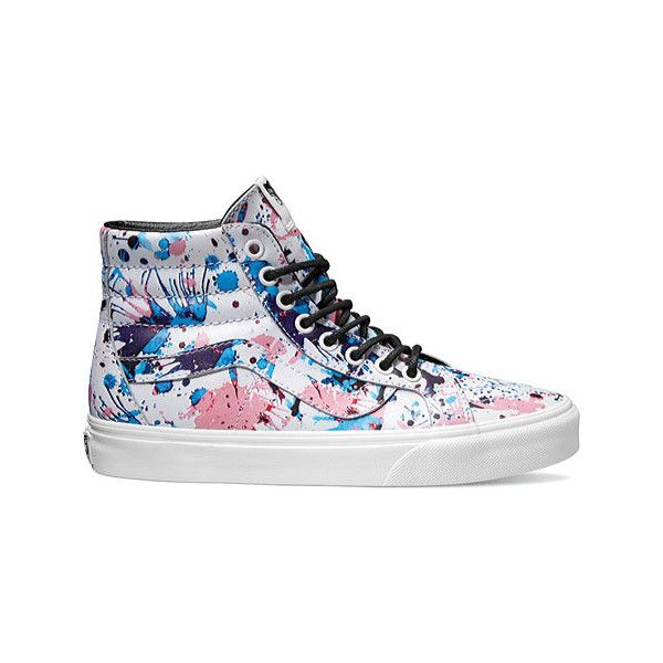 b03c27dc0865d7 Vans Sk8-Hi Reissue High Top - Paint Splatter Pink True White Casual...  ( 75) ❤ liked on Polyvore featuring shoes