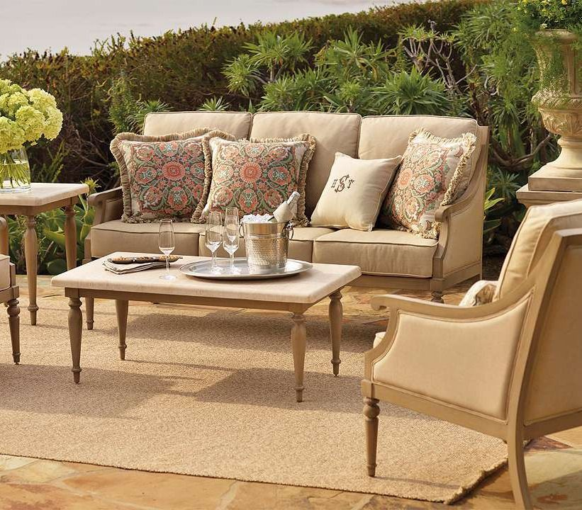 3e5cd1ebacd011 Make the time spent outdoors infinitely more inviting with Frontgate s  Grace Seating Collection.