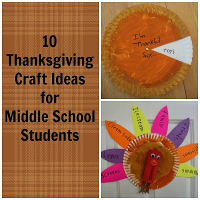 Thanksgiving Crafts For Middle School Group Therapy Middle School