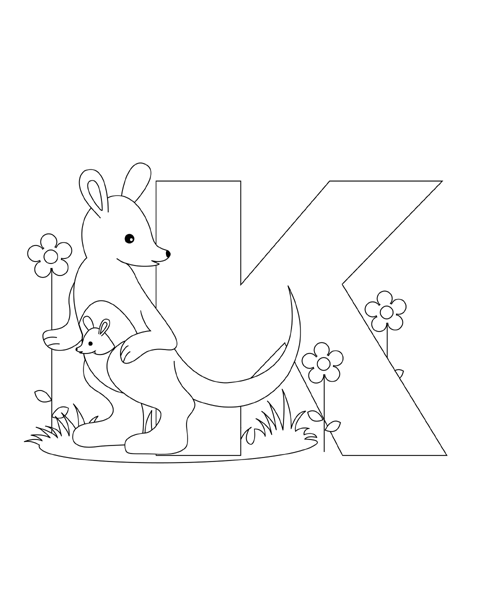 Letter K Coloring Page Abc Coloring Pages Alphabet Coloring