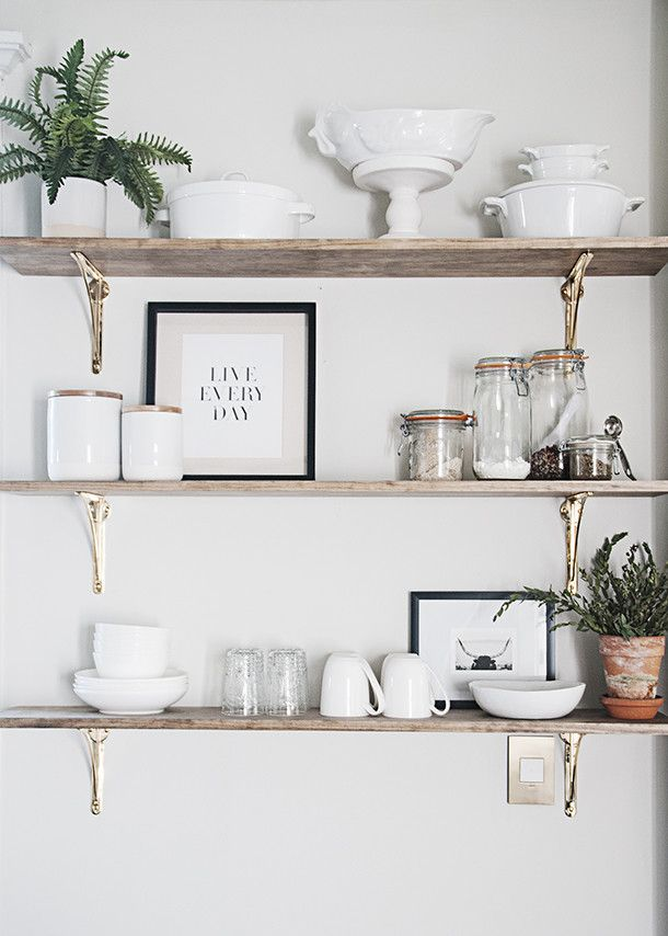How To Style Kitchen Open Shelving Home Decor Kitchen Open Kitchen Shelves Kitchen Wall Decor