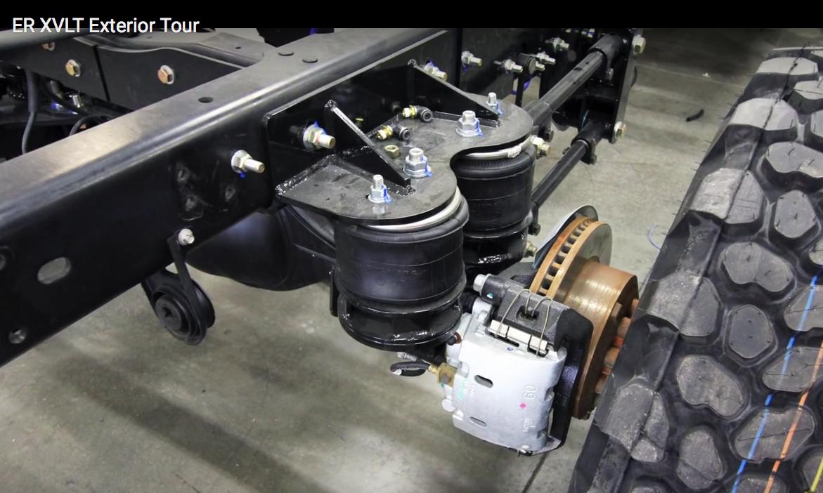 air spring suspension upgrade on earth roamer 4x4 RV