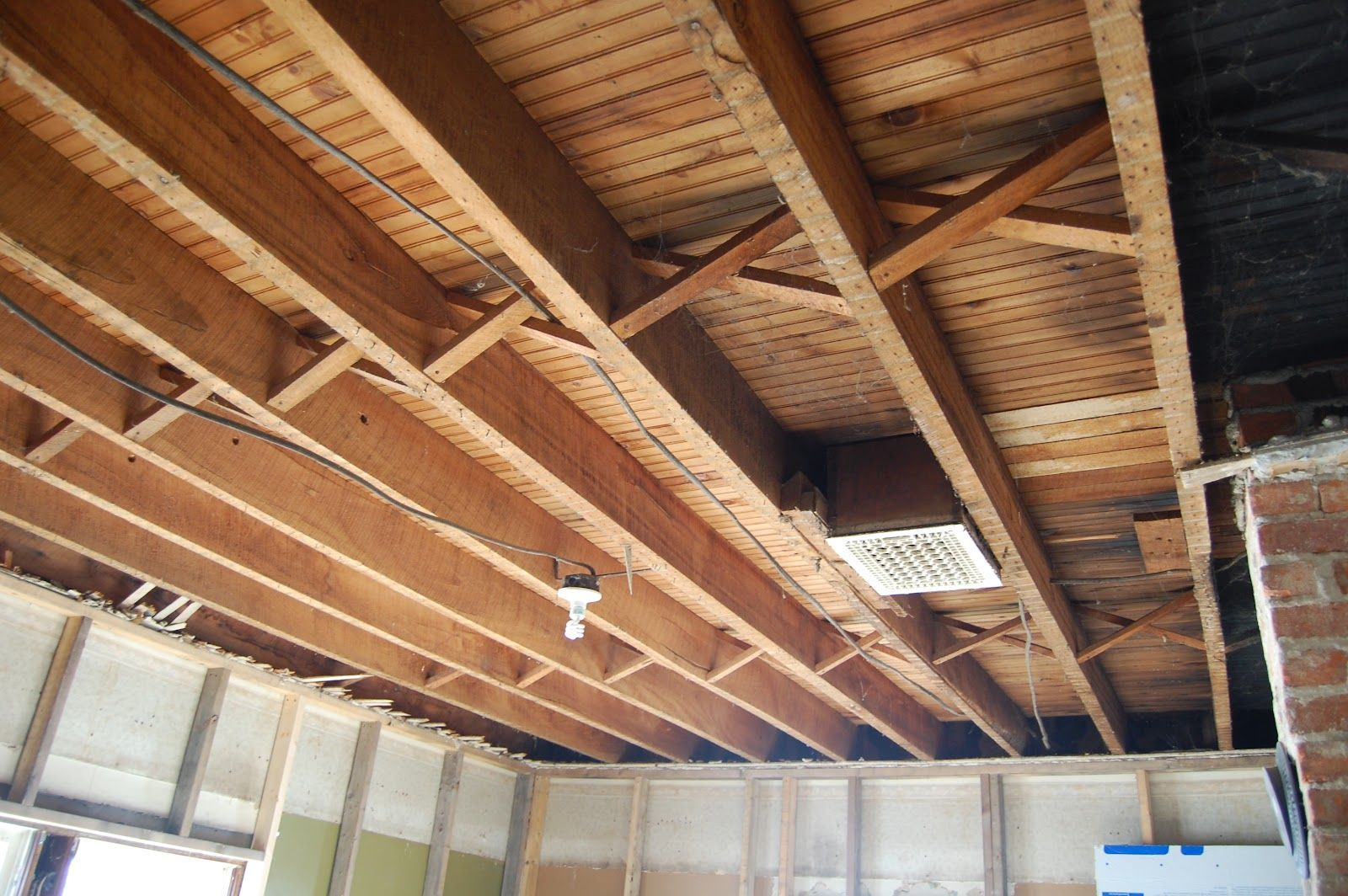 1st Floor Exposed Ceiling Joists Soundproofing An Exposed Joist Ceiling Exposed Basement Ceiling Exposed Ceilings Low Ceiling Basement