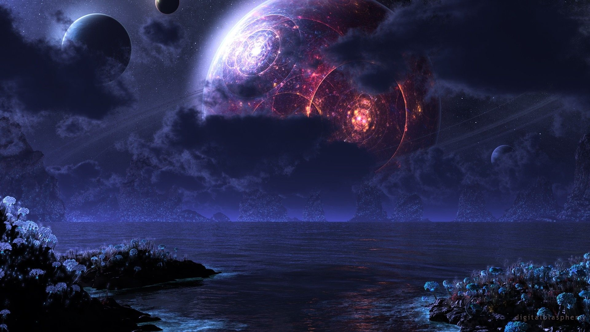 Wallpaper 2943397 Jpg 1920 1080 Fantasy Landscape Alien Worlds Space Pictures