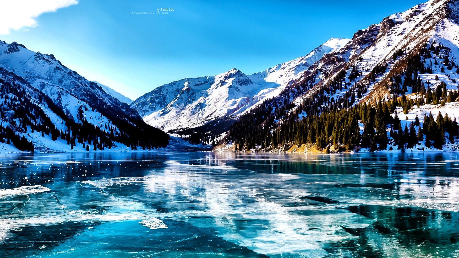 Pin On Jenny Krueger Hd wallpaper lake ice mountains valley