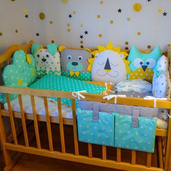 Crib bumpers - Crib bedding set - Baby bed bumper