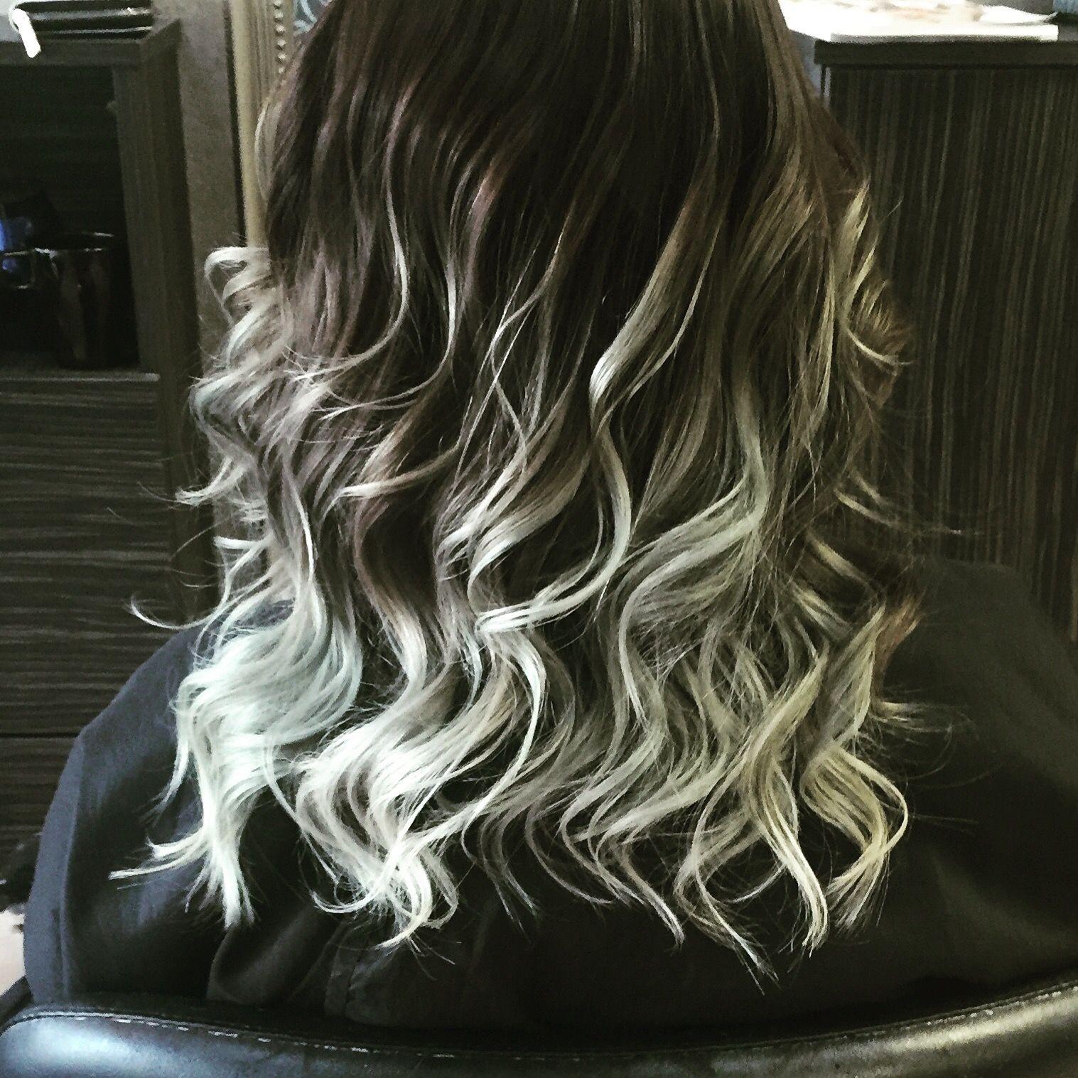 Hair today at Pout! 🔮💋💁 #blackgreyombre #hairdresser #hairfashion #hairstyle #hairgoals #hairofinstagram #amazing #hairdye #haircolor #magic #beautiful #inlove #hairoftheday #hairsalon #hairlife #colors #galaxy #goals #northernireland #lisburn #cosmichair