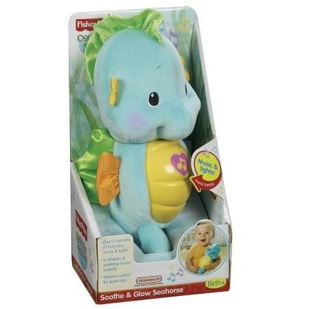 Fisher Price Soothe Glow Seahorse Ages 0 36 Months Blue 1 Ea