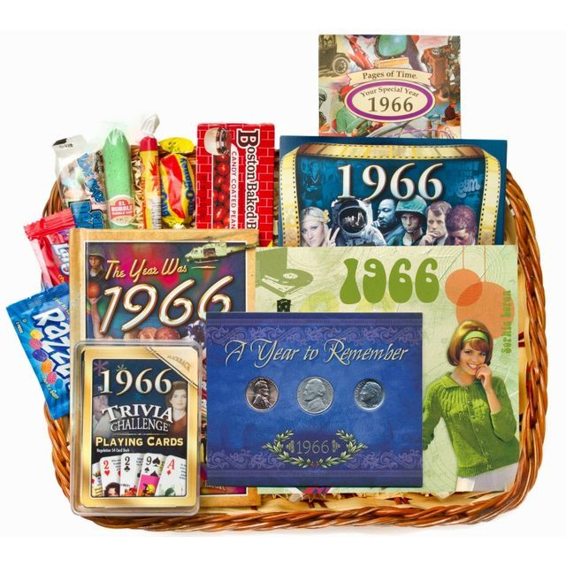 50th Anniversary Or Birthday Gift Basket For 1966