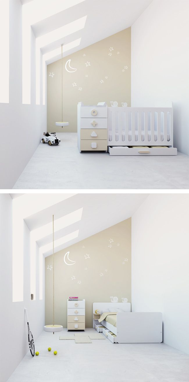 Cunas convertibles modernas originales y de dise o para beb s de alondra para habitaciones - Diseno de habitaciones infantiles ...