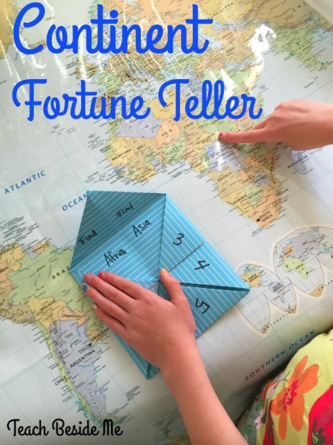 Continent fortune teller pinterest fortune teller geography continent fortune teller hands on geography game for kids gumiabroncs Choice Image