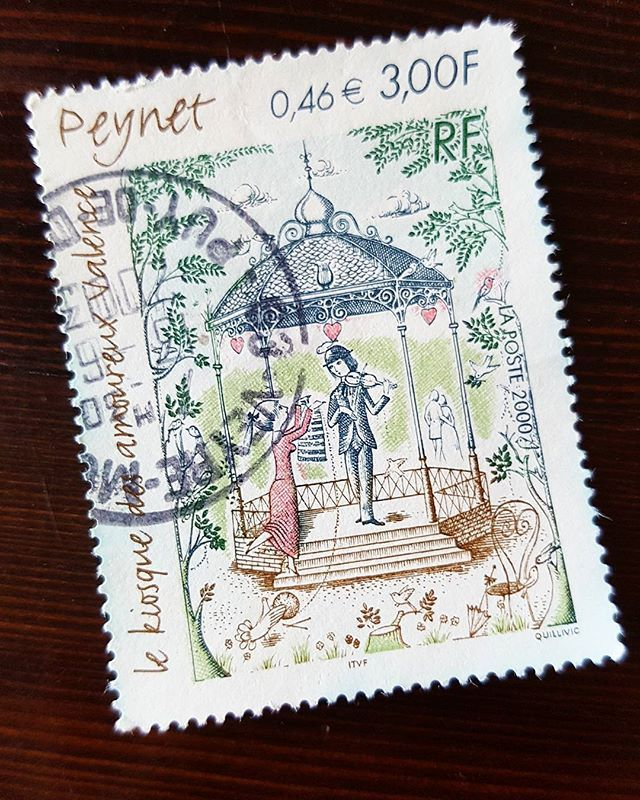 STAMP - How pretty is this 😍 I love it! ❤❤❤ Thank u Tele !!!1  #philategram #philately #stampoftheday #prettystamps #stampofthemonth #postzegel #postzegelsverzamelen #peynet  #lekiosquedesamoureuxdepeynet