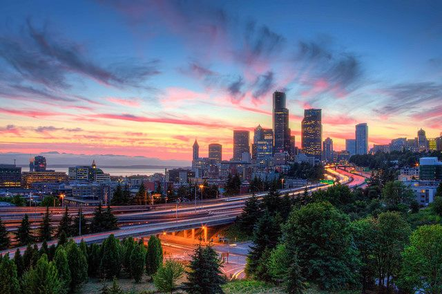 A Seattle Summer Sunset by Fresnatic, via Flickr