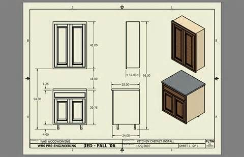 Standard Kitchen Cabinet Dimensions Drawing