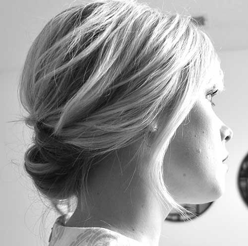 Cute-Easy-Low-Bun-Short-Hair-Back.jpg 500×496 pikseliä