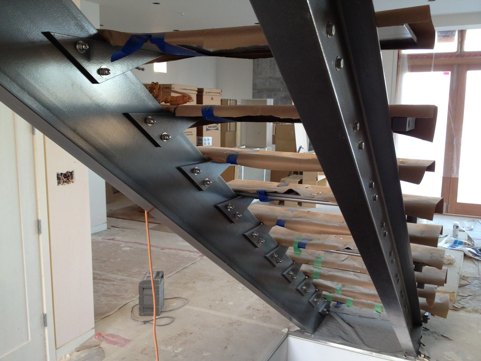 Notched Steel Beam Design Google Search I Beams Pinterest Steel Stairs Design Metal Stairs Stairs Stringer
