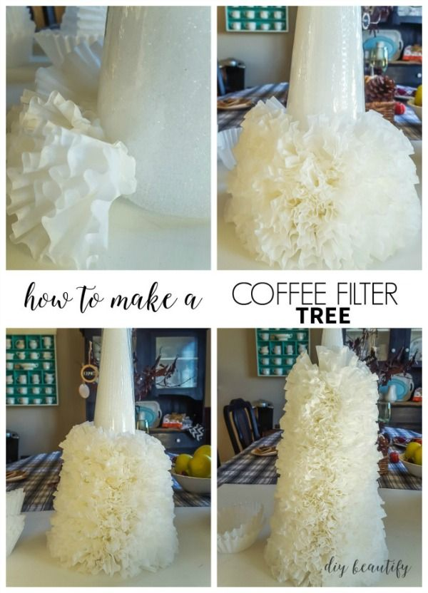 How To Make A Coffee Filter Tree With Images Coffee Filter
