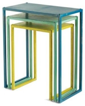 Love The Colors Metal Nesting Tables By Grandin Road