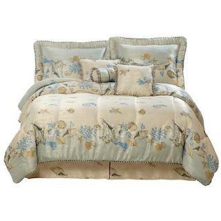 coastal comforter sets king pc tropical sea shell beach comforter set coastal nautical queen