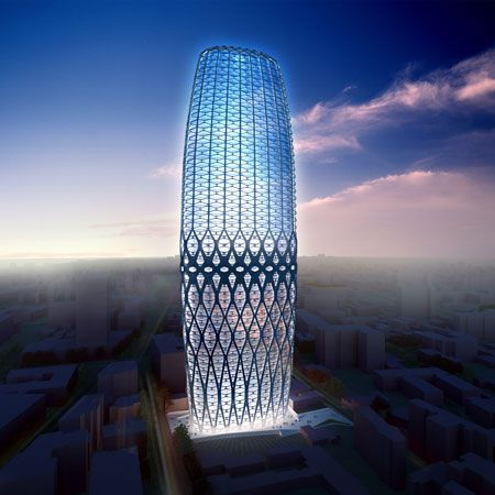 zaha hadid architects have designed a high rise building for the center of bucharest - Zaha Hadid Architect Buildings