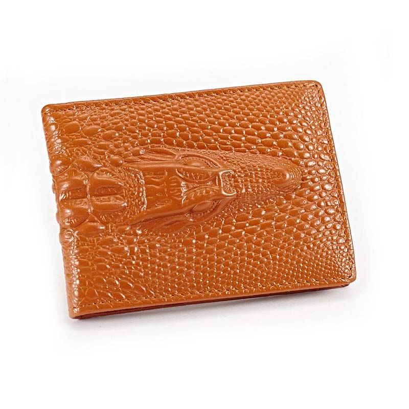 Genuine cow leather driver license wallet fashion business and ...