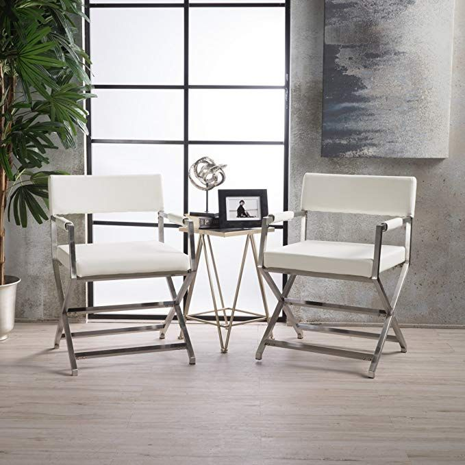 Best Vista Leather Modern Arm Chairs Set Of 2 White Review 640 x 480