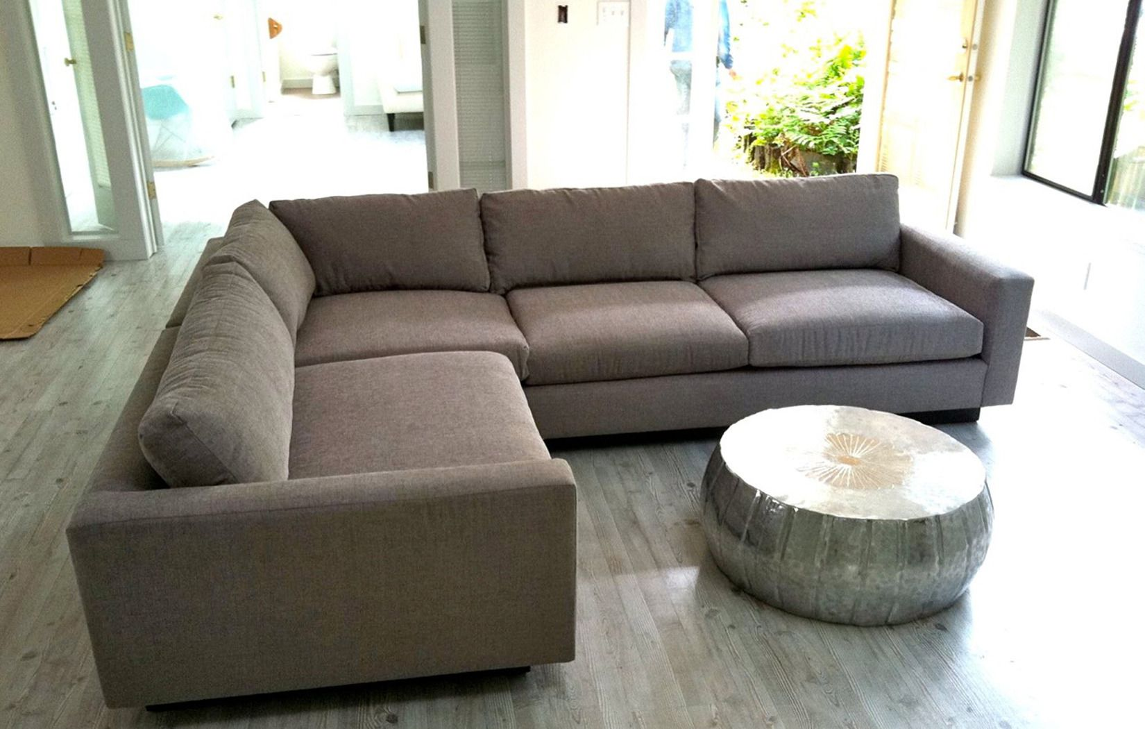 Sofa Seattle Divani Casa Potash Modern Taupe Fabric Set Couch Deep Sectional By The Room Lr