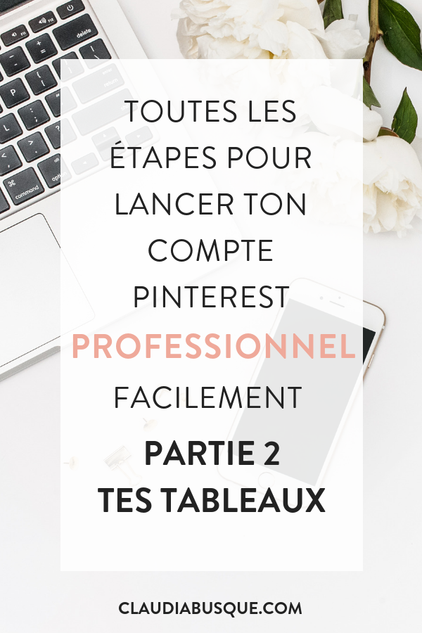 Debuter Sur Pinterest Professionnellement Partie 2 Claudia Busque Seo Tutorial Marketing Pinterest Marketing