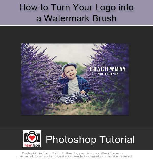 How To Turn Your Logo into a Watermark Brush #iheartfaces #photography