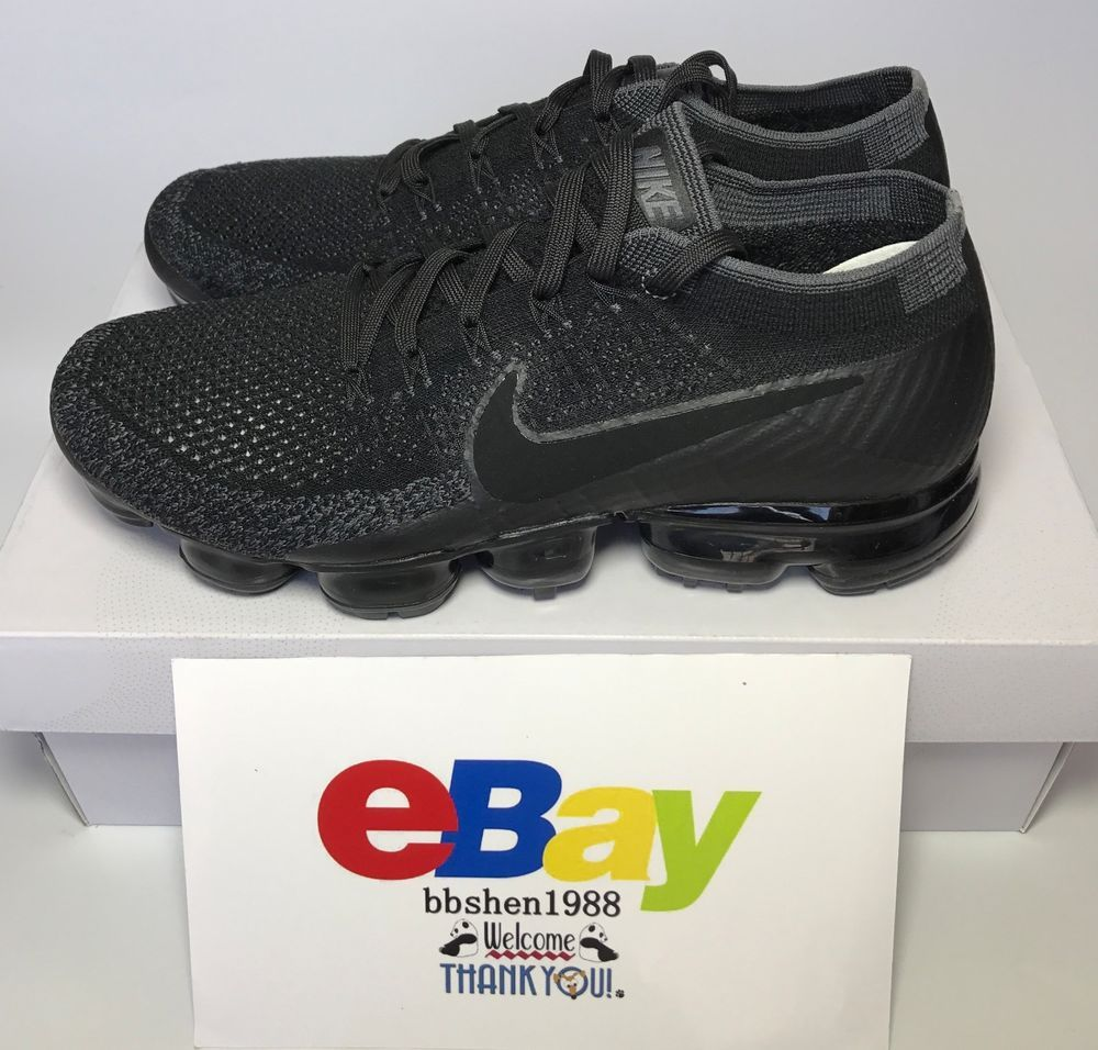 Nike Air Vapormax Flyknit Triple 849558 007 Black Anthracite